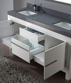 White Bathroom Vanities - modern - bathroom vanities and sink consoles - los angeles - Vanities for Bathrooms