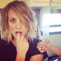 Kayley Cuoco - short hair!