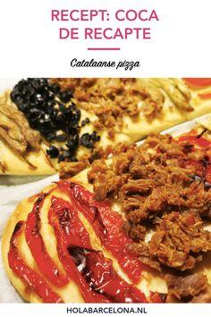 Coca de recapte recept: Catalaanse pizza | HolaBarcelona.nl Coco, Barcelona, Breakfast, Tomatoes, Morning Coffee, Barcelona Spain