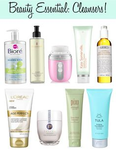 A daily beauty essential...Facial Cleansers!