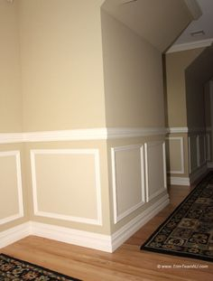 118. Shadow boxes and chair molding on hallway. Westfield, NJ 07090.