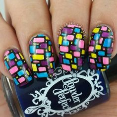 Next up for #bomnailartmarch is geometric. Polishes used are #opi Alpine Snow (as my b... | Use Instagram online! Websta is the Best Instagram Web Viewer!