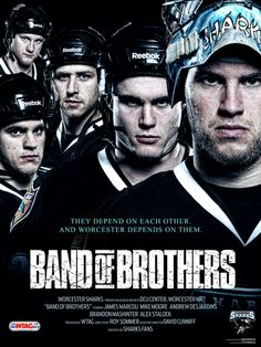 """""""Band of Brothers"""" from the 2010-2011 Worcester Sharks season. (@WorcesterSharks)"""