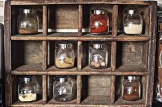 Once Upon a Cocina - Vintage Wooden Crate Spice Rack!