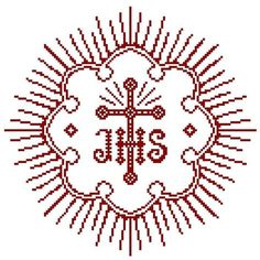 Weihkorbdecken Zählvorlage - Weihkorbdecken - Themen Embroidery Works, Beaded Embroidery, Hand Embroidery, Catholic Crafts, Altar Cloth, Religious Cross, Cool Diy Projects, Knitting Projects, Cross Stitching