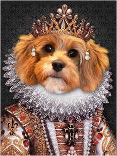 Portrait Renaissance, Dog Canvas Painting, Moth Drawing, Dog Bathroom, Domino Jewelry, Magazine Collage, Photo Portrait, Animal Heads, Here Kitty Kitty