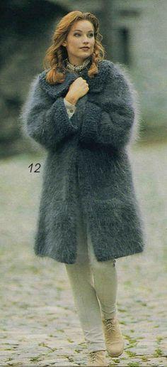Knitted Coat, Mohair Sweater, Sweater Coats, Wool Sweaters, Knit Cardigan, Knitwear Fashion, Knit Fashion, Cardigans For Women, Coats For Women