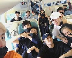 Got7 | just imagine u would sit next to them in an airplane.. dead.