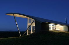 Modern Rural Glass Home Decorating Architecture Design Curved Roof - Exterior