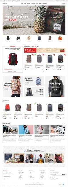 Evon is clean and modern design #PSD template for stunning #eCommerce website with 37 layered PSD pages download now.. Simple Wordpress Themes, Professional Wordpress Themes, Website Layout, Web Layout, Website Ideas, Ecommerce Web Design, Custom Website, Newsletter Design, Web Design Inspiration