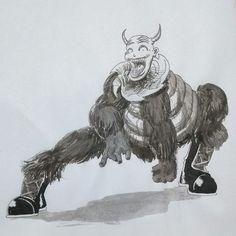 Inktober - dia 3 (atrasado)    #inkoktober #inktober #ink #inktober2017 #art #illustration #drawing #draw #monster  #horror #nightmare #creepy