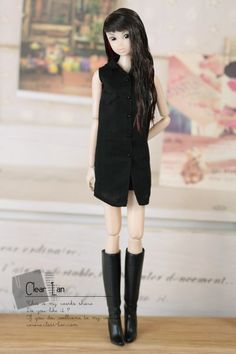Clear lan | doll clothes <--- Cute long sleeveless button up. 27cm (m)