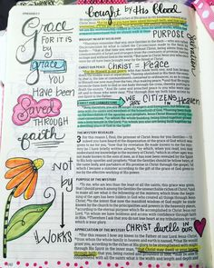 Tonya Andrews HKC Bible Journaling Ephesians 2