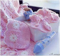 crochelinhasagulhas: Jogo de crochê para bebê
