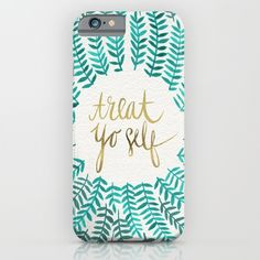 Buy Treat Yo Self – Gold & Turquoise by Cat Coquillette as a high quality iPhone & iPod Case. Worldwide shipping available at Society6.com. Just one of millions of products available.