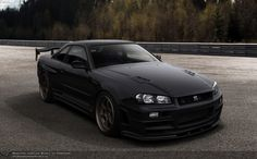 Car of the day – Nissan Skyline GT-R 280 hp HD The fifth generation Nissan Skyline GT-R is powered by a cc) twin-turbo petrol engine. The engine can produce up to 280 hp kW) at 6800 rpm and torque of 293 … Skyline Gtr R34, R34 Gtr, Nissan Skyline Gt, Japanese Domestic Market, Tuner Cars, Jdm Cars, My Dream Car, Dream Cars, Godzilla
