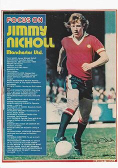 Focus On with Jimmy Nicholl of Man Utd in Shoot! magazine in 1978.