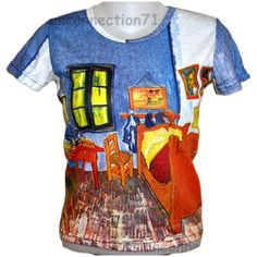 14231fbd Details about Van Gogh BEDROOM in ARLES New Fine Art T Shirt Miss S M L XL  Short Sleeve PN