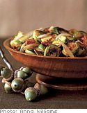 Recipe for Brussels Sprouts with Turkey Bacon, as seen in the November 2006 issue of & The Oprah Magazine. Turkey Bacon Recipes, Vegetable Recipes, Healthy Food Alternatives, Healthy Recipes, Go Veggie, Sliced Turkey, Sprouts With Bacon, Recipes From Heaven, Vegetable Side Dishes