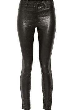 J Brand - 8001 Leather Skinny Pants - Black - 31