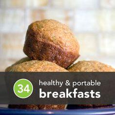 Healthy and portable breakfasts! Been wanting to make more healthy baking items! It's hard to come by these days! :)