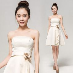 FLOWER CHAMPAGNE EVENT PROM BALL GOWN BRIDESMAID WEDDING PARTY EVENING DRESS