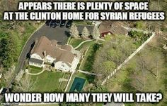I wonder... I wonder how many actors like George Clooney, who demands we take care of refugees, will welcome into his many homes around the world?
