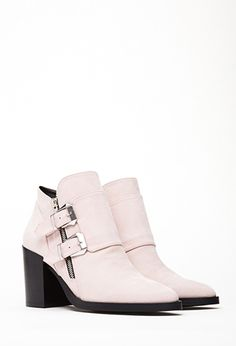 Buckled Faux Suede Booties | FOREVER21 - 2000099730