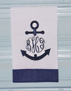 Custom Boutique Personalized Monogrammed by TheMonogrammedMonkey, $10.00 | tea towel #anchor