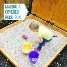 The Sandbox Chronicles: Part 3, The Remix  using pea gravel instead of sand because it's safer (less toxic for lungs)