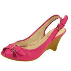 "Save 10% + Free Shipping Offer * | Coupon Code: Pinterest10 Condition: Brand New (shoes may ship without original box, please let us know if you need box) Material: Man Made PU Leather. Open Toes. Sling back with adjus	le buckle. Stylish Ladies Fashion Wedge Shoes. Approx 3"" Heel Approx Retail price: Women's Top Moda Pink Mid Heel Casual Wedge Shoes"