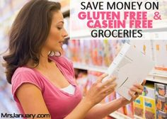 If you or someone you know is eating a gluten-free and/or casein-free diet, you MUST read this post! There are a bunch of tips for saving money on this expensive diet. #frugal #frugalliving #blog #savemoney http://www.mrsjanuary.com/