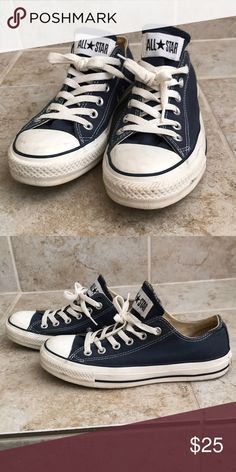 Converse Allstars Lightly used, navy Converse Allstars Converse Shoes Sneakers