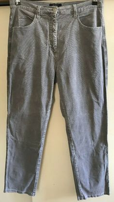 2261441d Pale Grey Cord Trousers - Size 16 #fashion #clothing #shoes #accessories #