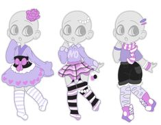 Single Palette Outfit Batch (closed) by Horror-Star on DeviantArt