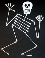 Easy DIY Q-Tip Skeleton- and so cute!