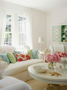 White with pops of color