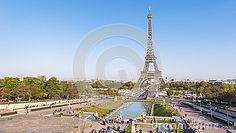 View on Eiffel Tower from Trocadero