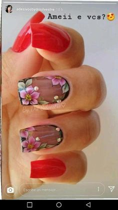 30 Creative Image of Nails Design Ideas Amaze Everyone, You have to prepare your nails and use the base coat. You must make it sure that the nails do match with the remainder of your look. Short nails are g. Hot Nails, Pink Nails, Hair And Nails, Stylish Nails, Trendy Nails, Flower Nail Art, Manicure And Pedicure, Nails Inspiration, Beauty Nails