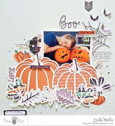 10 Fall Scrapbook Layouts #scrapbooklayouts