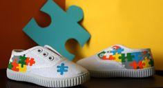 Zapatillas pintadas a mano: puzzle, personalizadas, zapatillas, botas. Customizadas.