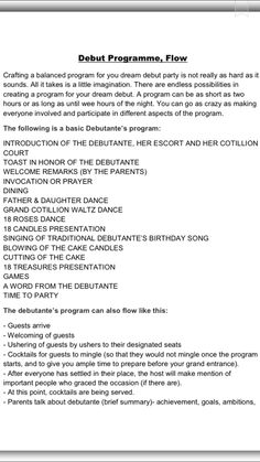 debut programme pt. 1