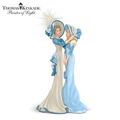 Thomas Kinkade Grandmother And Granddaughter Figurine
