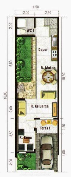 gambar denah rumah lebar 4 meter 3
