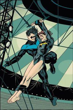 Nightwing (dick Grayson) and Barbara Gordon (batgirl, oracle) Barbara Gordon, Fantastic Four, Comic Book Characters, Comic Books Art, Book Art, Zombies, Dc Comics, Read Comics, Nightwing And Starfire