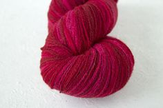 Gradient  wool artistic Yarn for knitting crochet.  Pink Red