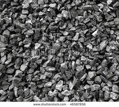 Gray granite gravel - stock photo