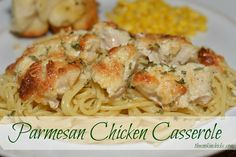 Parmesan Chicken Casserole Recipe Main Dishes with boneless skinless chicken breasts, mayonaise, shredded parmesan cheese, seasoning salt, ground black pepper, garlic powder