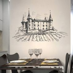 ik2391 Wall Decal Sticker old winery French Italian restaurant kitchen