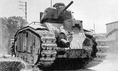 Impressive mass of a French Char B1 tank